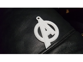 Avengers logo Keychain with Relief