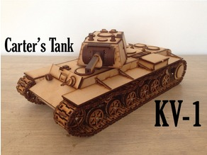 Lasercut KV-1 (motorizable)