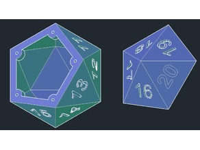 D20 dice container