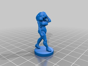 Walkin Girl with Afro remix 32mm scale