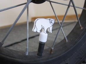 Polar Bear Tire Valve Stem Cap