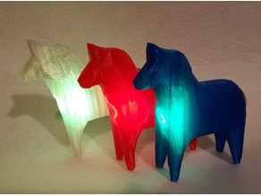Dala Horse with Rechargeable LED