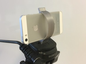 Simple phone holder for tripod