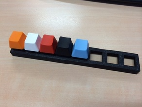 Demo strip for mounting Cherry MX keyboard switches