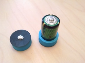 C battery to D battery adapter