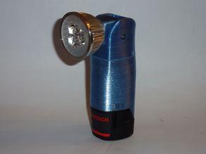 Bosch 12V flashlight with adjustable head