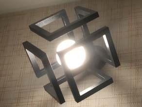 Infinity cube lampshade