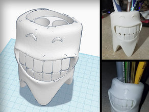 Smiling Toothbrush Holder