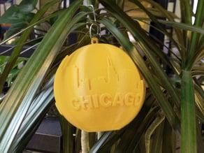 Chicago Skyline Globe Ornament