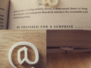 at shaped bookmark