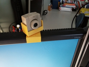 Webcam mount on the top of ViewSonic monitor