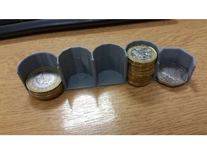 UK 50p, £1 & £2 Coin Holder