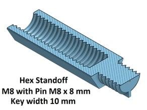Hex Key Wide 10 mm Standoff  10, 20, 30, 40, 50, 60, 70, 80, 90, 100 mm; M8 Pin M8x8