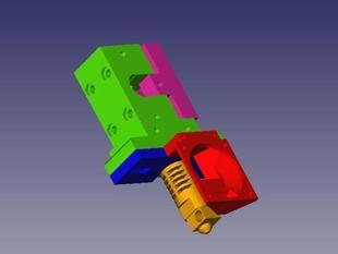 Prusa I3 spring loaded idler extruder