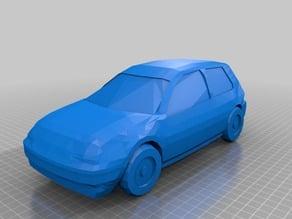 Volkswagen Golf 4 low poly model