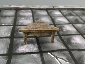 28mm Corner Table