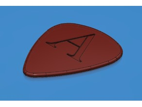 "Guitar Pick ""A"" Engraving"