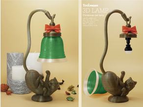 Christmas cat lamp