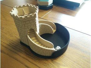 Retaining Wall and Platform for Three-path Dice Tower V.2