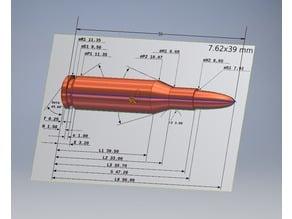 7.62×39mm Dummy Round