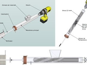 ABS 3 mm extruder prototype