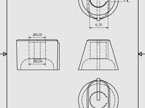 Volum knob for Montarbo - W17As