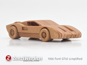 1966 Ford GT40  simplified cnc/laser