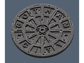 Gotham City Manhole Cover Coaster (Batman)