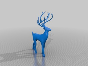 reindeer low poly