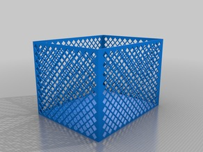 Customizable Lattice Box with solid bottom