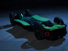 Faraday Motion Electric Research Vehicle (3d printable Onda Core modification)