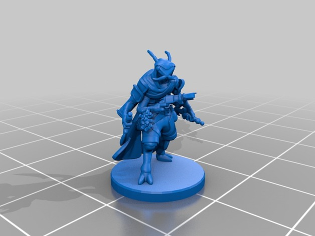 Thri Kreen Roguebard Miniature By Velrock Thingiverse