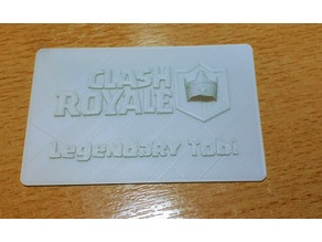 Clash Royale, Legendary Player Card