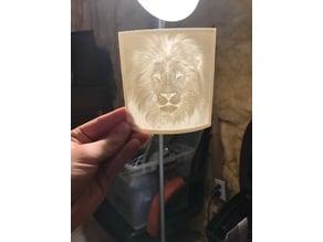 Lion outward curve lithophane
