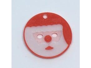 Santa 20 Danish kroner token / Christmas ornament