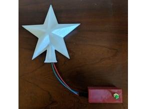 Lighted Christmas Tree Topper Star