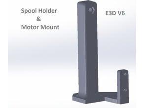 Spool Holder N Motor Mount // Anet A8 - E3D V6