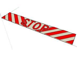 Cartel STOP para la puerta de su cuarto - Sign STOP for your bedroom door