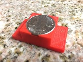 Quarter holding mount for CNC