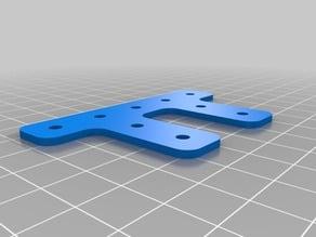 Customizable OpenBeam/misumi/slotted extrusion double T bracket