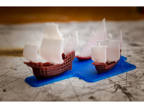 The ships of christopher columbus - scale 1/1000