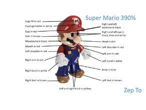 Super Mario scaled up to 390% - now are all parts printable