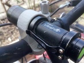 Flashlight bike holder