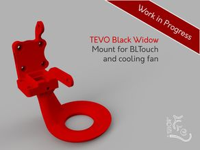 TEVO Black Widow BLTouch and Fan mount for Titan Extruder