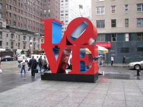 Robert Indiana Love Sculpture (high quality)