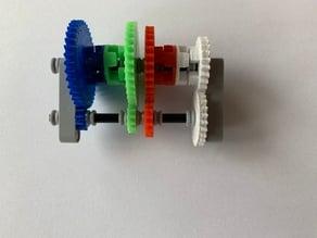 Lego Technic Demo 4 speed gearbox