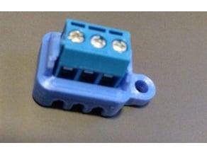 Terminal block PCB holder