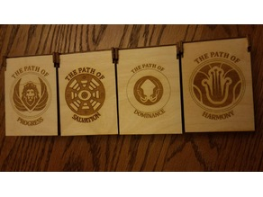 Anachrony Board game faction boxes
