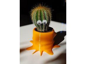 Cute Alien Cactus Planter Pot
