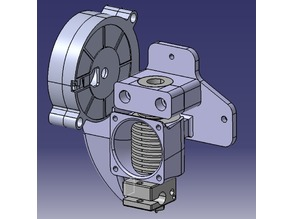 E3D V6 Holder with integrated cooling duct